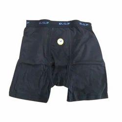 Navy Blue 100% Cotton Interlock Cloth Mens Trunk (Pocket)
