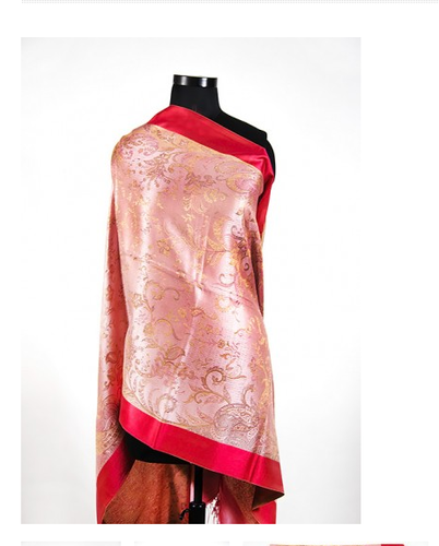 Red Glow Silk Scarves For Women