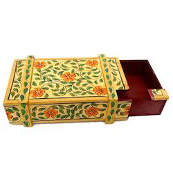Wooden Painted Puzzle Box