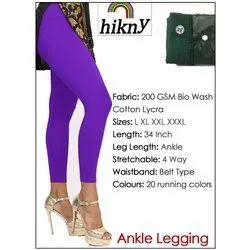 Strachable Plain Ankle Length Legging Stretchable