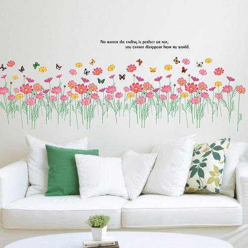 floral pvc sticker sheet & pvc vinyl hd modular wall sticker, rs 130
