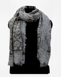 Designer Embroidery Scarves With Lace