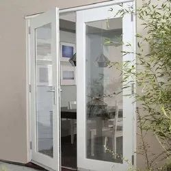 Silver Aluminium Hinged Door for Home