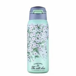 EVA, Double Wall Stainless Steel Vacuum Insulated Sipper Bottle With Straw, 480 ml