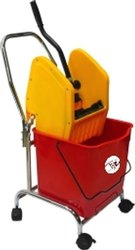 20L Single Bucket Wringer Trolley