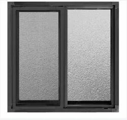 Modern Gray Aluminium Sliding Window, For Residential