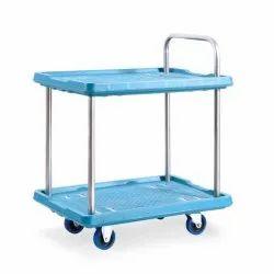Polypropylene Equal Double Platform Trolley, Model Name/Number: EPT-DT001, Capacity: 150 Kg