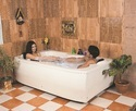 Mekong Jacuzzi Bathtub - 6' x 3.5' - White