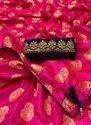 Kesari Exports Rani Pink Non Catalog Festival Wear Silk Sarees, Packaging Type: Plastic Bag