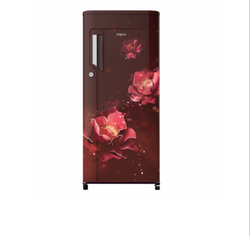 Whirlpool Icemagic Powercool 185L 4 Star Wine Abyss Single Door Pedestal Refrigerator