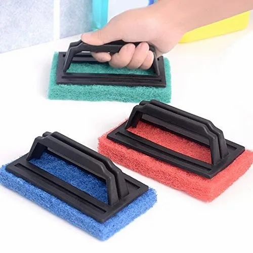 Tile Cleaning Multipurpose Scrubber Brush with Handle, Size: Small, Rs 30  /piece | ID: 20821706933