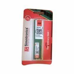 2 GB DRAM Simmtronics 2GB DDR3 RAM, For Desktop