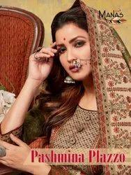 Manas Pashmina Plazzo Pashmina Winter Readymade Salwar Suit Catalog Collection at Textile Mall Surat