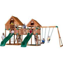Playground Double Wave Slide Combination Set