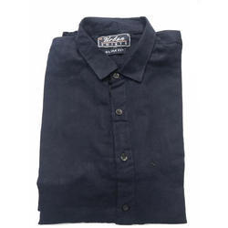 Cotton Collar Neck Full Sleeves Plain Shirt