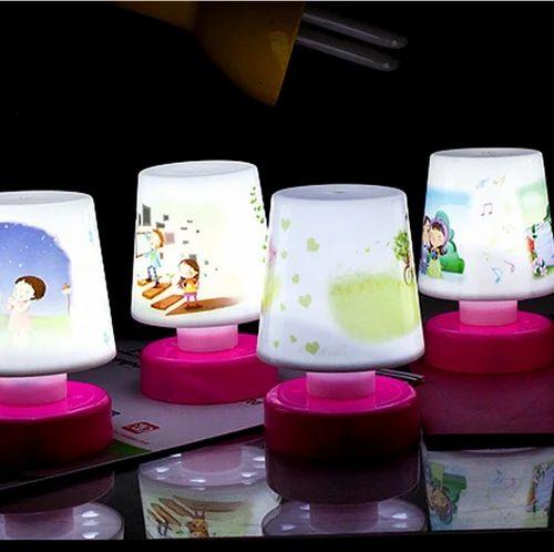 Led Cartoon Night Lamps For Kids, Pink Kids Lamp