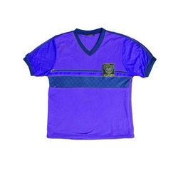 V Neck School Wear School Blue House T Shirt, Size: Medium