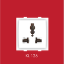 3 Pin Kelino Kl 126 Switch Socket, Voltage: 230 V