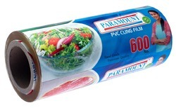 High Quality Food Grade Compatible PVC Cling Film Roll 600 No.