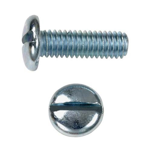 Steel Pan Slotted Screw, Size: 2.9 To 6.3 Inch, for Industrial