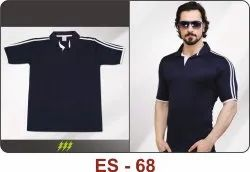 ES-68 Blue Polyester T-Shirts