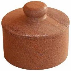 Decorative Brown Sandstone 6.25 Inch Serving Bowl Dish Casserole
