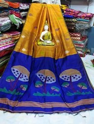 Ladies Block Printed Cotton Saree