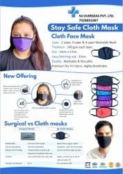Cotton Coloured Face Mask Washable Reusable Breathable