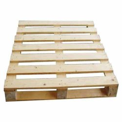 Rectangular Four Way Wooden Pallets, For Transport, Capacity: 500 Kg