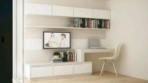 Tv Wall Unit With Study Table For Home And Hotel Rs 35000 Piece