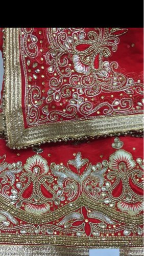 traditional wedding unstitched punjabi salwar suit with heavy hand ...