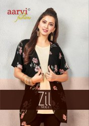 Textile Mall Presents Aarvi Fashions Zil Vol-1 Western Tops Catalog Collection