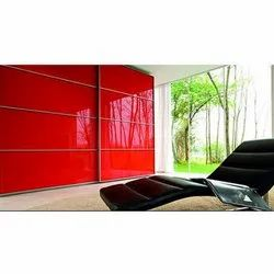 Saint Gobain Red Lacquered Glass, For Home, Thickness: 6 Mm