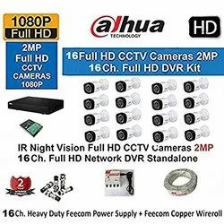 Dahua 16 Channel Full Hd- DVR with 1080P Realtime Preview 16 Bullet Full HD 2-MP 3 1 CCTV Wire RO