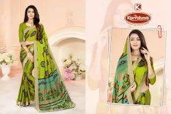 Printed Silk Chiffon Saree - Vintage-02