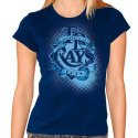 Ladies Blue Printed T-Shirt