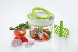 Multicolor Plastic New Handy Pull Chopper, 3 Steel Blade with Pull Cord