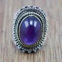 925 Silver And Brass Jewelry Tiger Eye Gemstone Adjustable Nice Ring