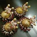 Meena Stud With Jhumka Earring