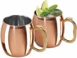 Solid SS-Copper Plating Hammered Moscow Mule Mug