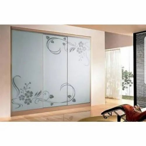 Designer Decorative Glass for Wardrobes, Thickness: 12 Mm