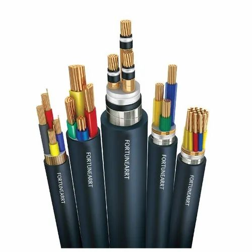 Fourtunearrt PVC 1 Core Round Flexible Copper Cable, Size: 0.5-400 Sqmm