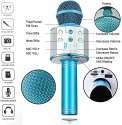 Round Mike, Wireless Bluetooth With Bluetooth Speaker Audio Recording --Round-Mike