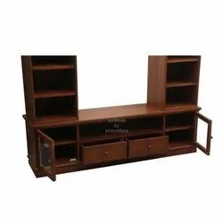 Brown Wood Wooden TV Cabinet, Features: Termite Resistence