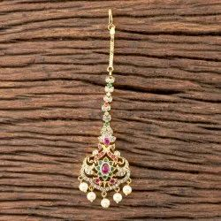 Rubygreen Brass CZ Classic Tikka with Gold Plated 407155