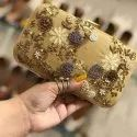 Golden Party Handbags For Ladies