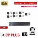 Feecom Cp Plus Full Hd 8-Ch NVR 2-Mp 1080p Full Hd Ip Camera 7-Pc Bulletcamera Ip Camera. 1-Tb h Set