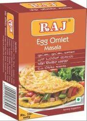 Raj Masale Egg Omlet Masala, Packaging Size: 50g