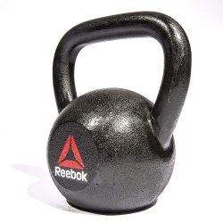Black Reebok Iron Kettlebell