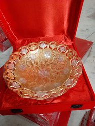 Brass Decorative Gold Silver Plate For Wedding Gift